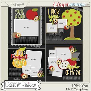 I PIck You - 12x12 Templates (CU Ok) by Connie Prince