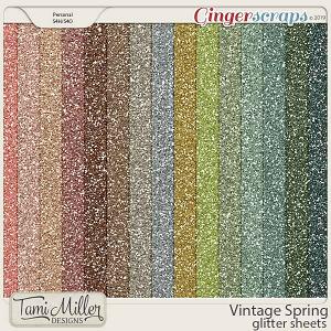 Vintage Spring Glitter Sheets by Tami Miller Designs