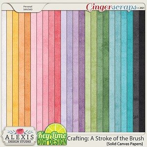 Crafting: A Stroke of the Brush Solid Papers by Alexis Design Studio and Key Lime Digi Design