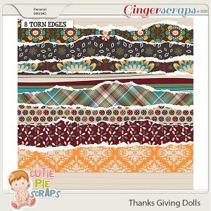 Thanksgiving Dolls Torn Edges