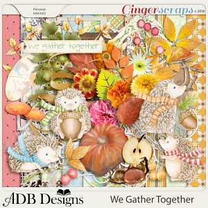 We Gather Together Page Kit by ADB Designs