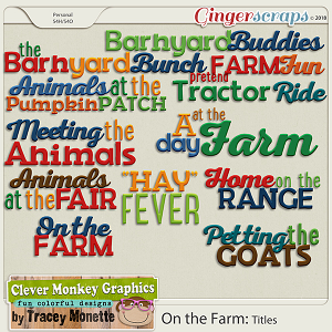 On the Farm Titles by Clever Monkey Graphics