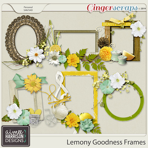 Lemony Goodness Frame Clusters by Aimee Harrison
