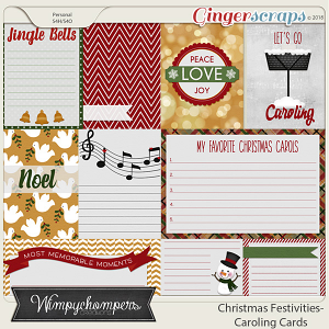 Christmas Festivities- Caroling Cards