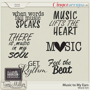 Music to My Ears Word Art by Tami Miller and Aimee Harrison