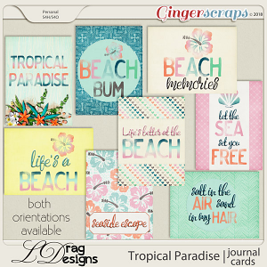 Tropical Paradise: Journal Cards by LDragDesigns
