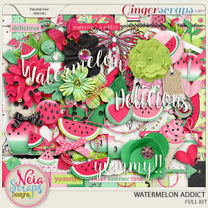 Watermelon Addict - Full Kit by Neia Scraps