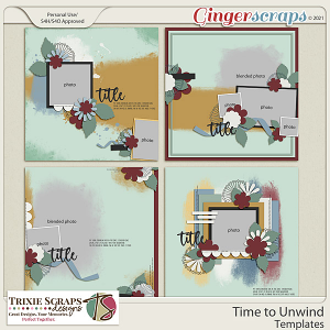 Time to Unwind Template Pack by Trixie Scraps Designs