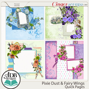 Pixie Dust & Fairy Wings Quick Pages by ADB Designs