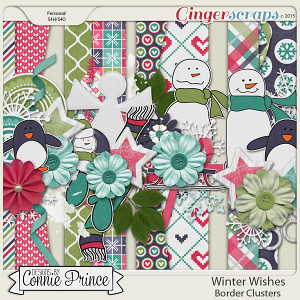 Winter Wishes - Border Clusters