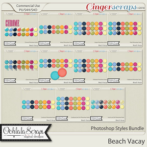 Beach Vacay CU Photoshop Styles Bundle