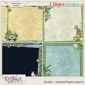 Zoofari Stacked Papers (layers)