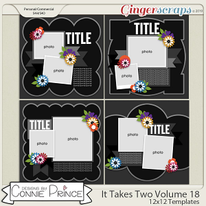 It Takes Two Volume 18 - 12x12 Temps (CU Ok) by Connie Prince