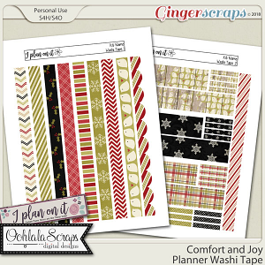 Comfort and Joy Planner Stickers Washi Tape