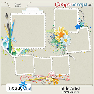 Little Artist Frame Clusters by Lindsay Jane