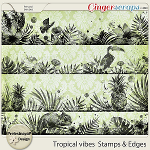 Tropical vibes Stamps & Edges