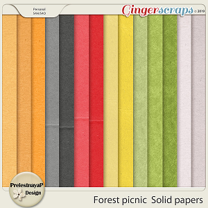 Forest picnic Solid papers