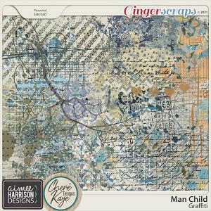 Man Child Graffiti by Aimee Harrison and Chere Kaye Designs
