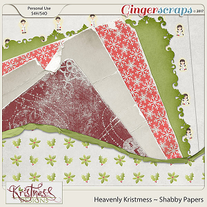 Heavenly Kristmess Shabby Papers