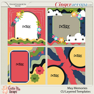 May Memories -Cu Layered Templates Set By Cutie Pie Scraps
