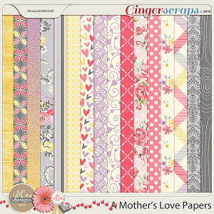A Mother's Love Papers by JoCee Designs