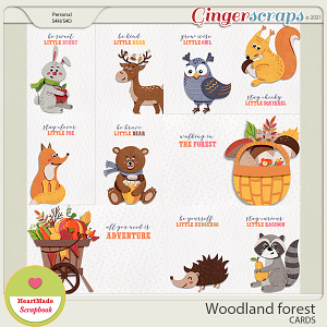Woodland forest - cards