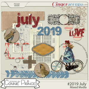 #2019 July - Mixed Media by Connie Prince