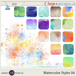 Watercolor Styles 04 by Karen Schulz