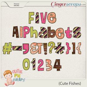 Cute Fishes-Alphabets