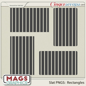 SLAT RECTANGLES PNG Templates by MagsGraphics