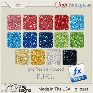 Made In The USA: Glitterstyles by LDragDesigns