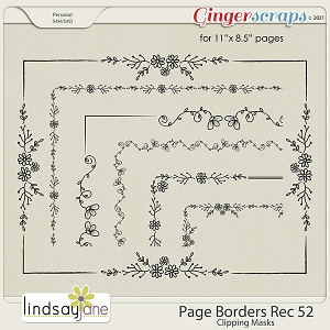 Page Borders Rec 52 by Lindsay Jane