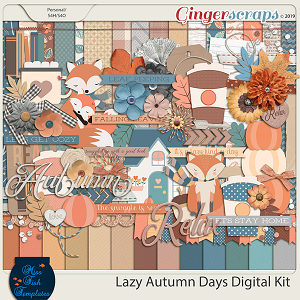 Lazy Autumn Days Digital Scrapbooking Kit by Miss Fish