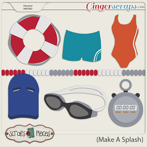 Make A Splash CU Templates - Scraps N Pieces