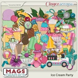 Ice Cream Party ELEMENTS by MagsGraphics