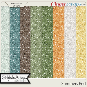 Summers End Glitter Papers