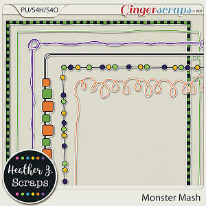 Monster Mash BORDERS by Heather Z Scraps