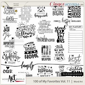 100 of My Favorites Vol. 11 Word Art