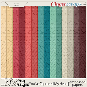 You've Captured My Heart: Embossed Papers by LDragDesigns
