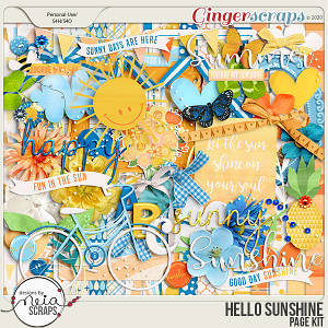 Hello Sunshine - Page Kit - by Neia Scraps