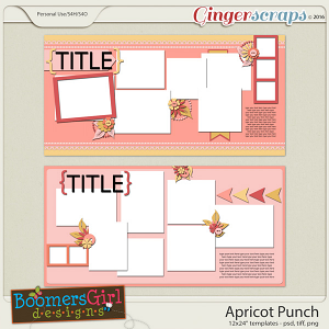 Apricot Punch Template Pack by BoomersGirl Designs