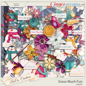 Snow Much Fun by LouCee Creations