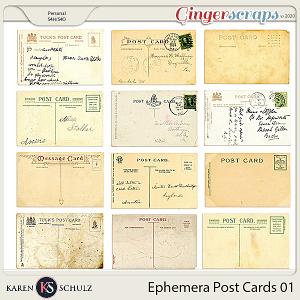 Ephemera Postcards 01 by Karen Schulz