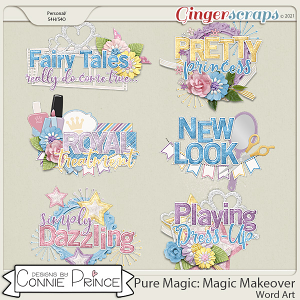 PureMagic: Magic Makeover - Word Art Pack by Connie Prince