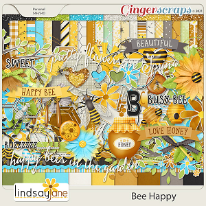 Bee Happy by Lindsay Jane
