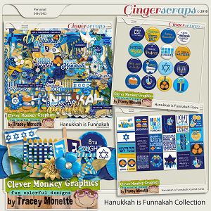 Hanukkah is Funnakah Collection by Clever Monkey Graphics