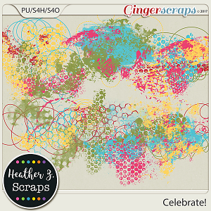 Celebrate! PAINT by Heather Z Scraps