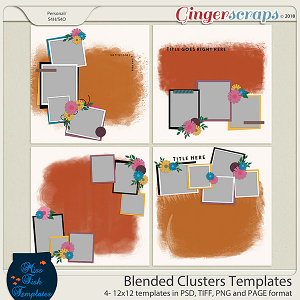 Blended Clusters 1 Templates by Miss Fish