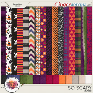 So Scary - Papers (patterned and Solids) - by Neia Scraps