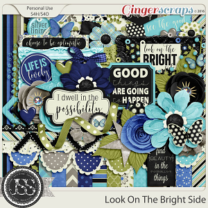 Look On The Bright Side Digital Scrapbooking Kit